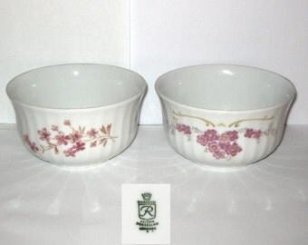 Wunsiedel Bavaria Porzellan Germany Two Small Serving Dining Bowls