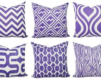 Purple Pillow Cover - Purple Throw Pillow - Decorative Pillows - Purple Accent Pillow - Purple Pillows - Purple Lumbar Pillow - Euro Sham
