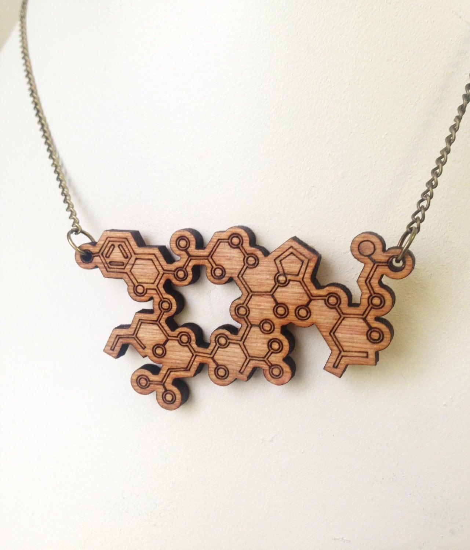 oxytocin molecule necklace