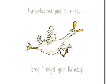 Featherbrained Greeting Card