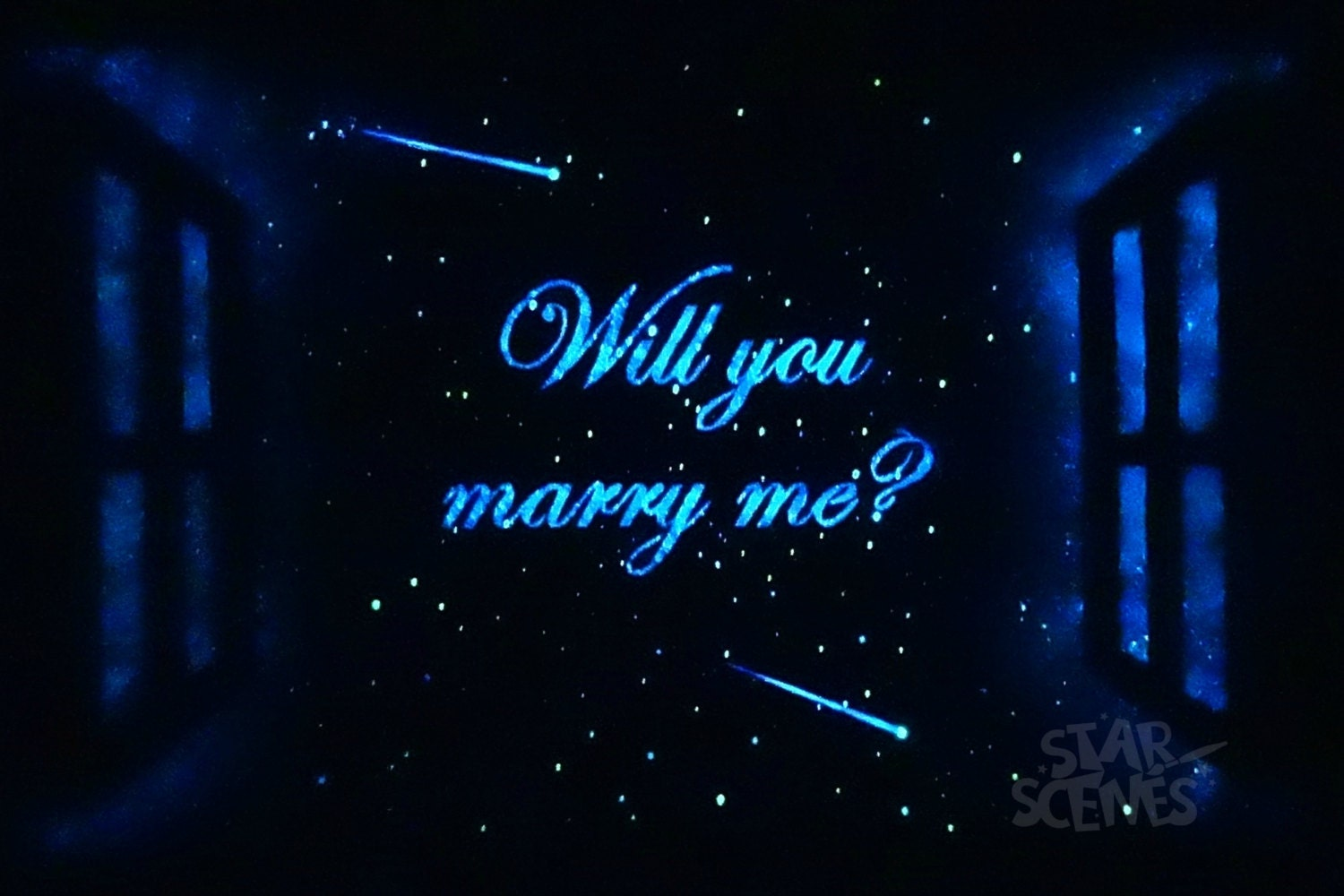 glow in the dark paint for wallsWill you marry me Star Window featuring glow in the dark
