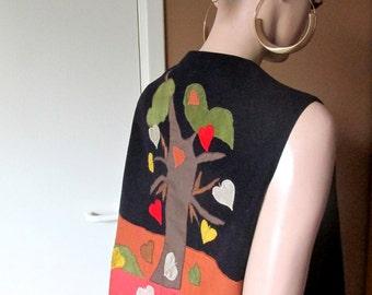 Vintage waistcoat with appliqué back.