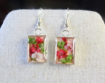 Real Flowers in Earring - Thyme