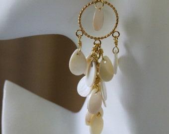 Mother of pearl chandelier earrings 0658EA
