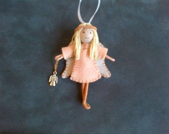 Guardian Angel Bendy Doll hanging decoration