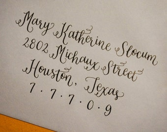 Custom Wedding Invitation Calligraphy : 'Grace' style