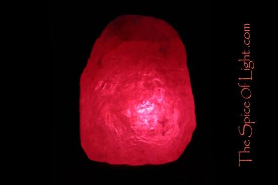 Natural Mystical Magenta Crystal Himalayan salt lamp
