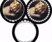 Editable Rhinestone Frames Bottle Cap Images 4x6 Bottlecap Collage Scrapbooking Jewelry Hairbow Center