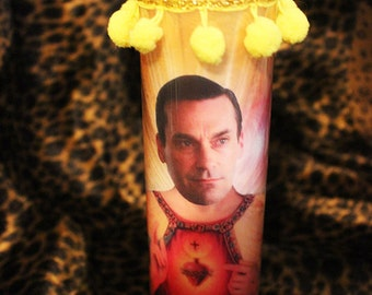 Don Draper (Jon Hamm) Kitschy Kandle - Prayer Candle