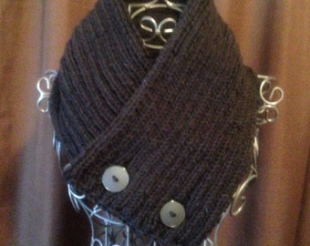 Scarf, Button Up Scarf, Cowl, Button Up Cowl, Winter Accessories, Winter Gear, Any Color, Winter Fashion,