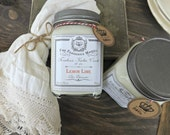 Soy candle Farmhouse Kitchen Candle Lemon Lime 12 oz./ odor eliminator By Z&Co.