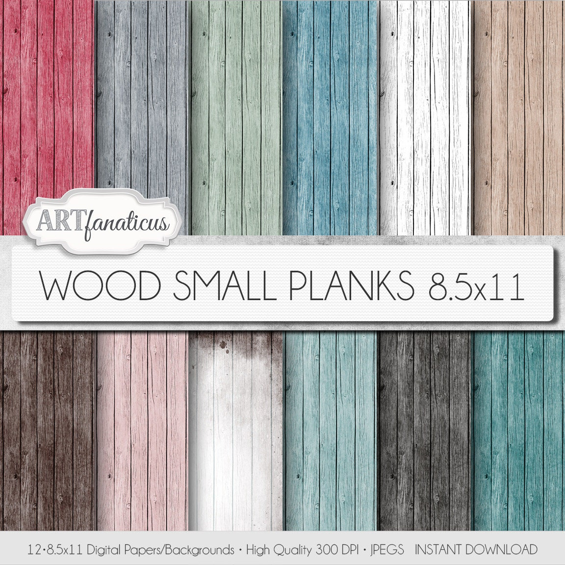 Scrapbook paper wood grain - Digital Wood Papers Wood Small Planks Textured Digital Background In Mint Green Wood Grain Aqua Pink Red White Wood Wood Background