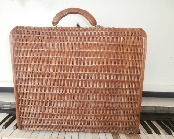 Picnic Basket Items : Items similar to vintage french picnic basket wicker