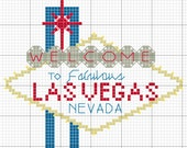 Welcome to Las Vegas Sign Cross Stitch Pattern