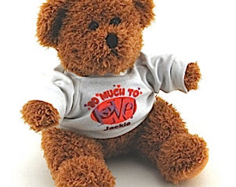 Teddy Bear with Personalized Tee Shirt