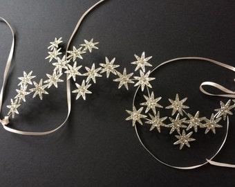 Sparkle Stars Bridal Bridesmaids Swarovski Rhinestones Crystals Hair Comb Headband Tiara