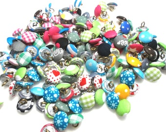10 Fabric Buttons, mix, 13 mm (614)