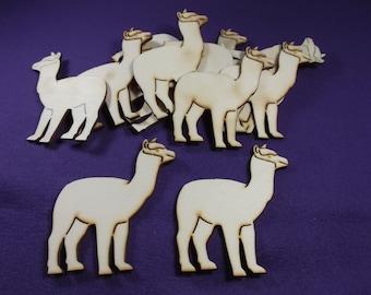 12 Alpaca, wood, 8 x 7.5 cm *** B - Quality *** (1039)