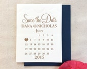 The Babys Breath Suite - Letterpress Save the Date Wedding Announcement, Gold and Navy Blue, Lace, Calendar, Simple, Heart, Classic, Modern
