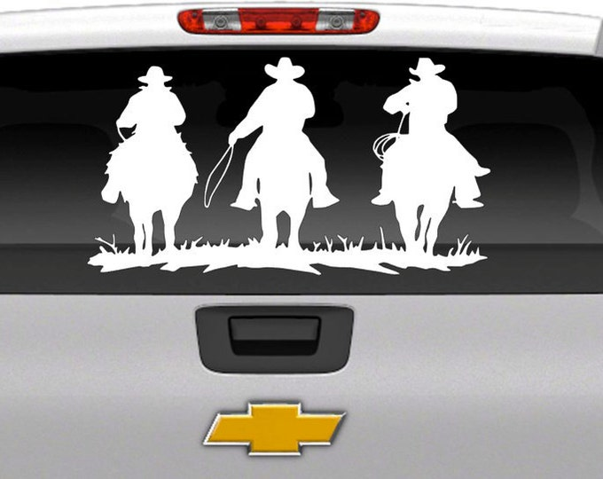 Large Horseback Rider Vehicle Decal - Vinyl Decal for Cars, Trucks, SUV's, Trailers, Boats, and more
