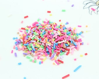 30gram bag of 2mm-6mm Tiny Fake Sprinkles Colorful Faux Chocolate Topping Candy Flakes Polymer Clay or Fimo Cabochons