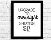 Add On Overnight Shipping Upgrade- Can Be Added on to Any Order!