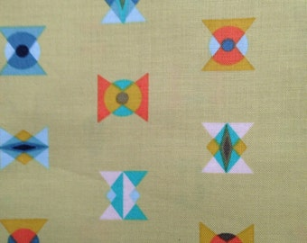 Arrowheads in Lime from Acacia by Tula Pink