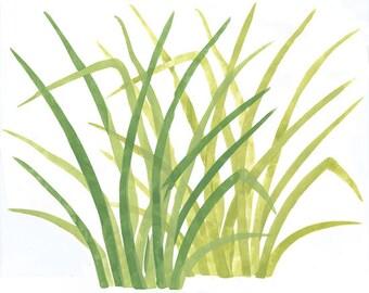 Rainforest Jungle Grass - Wall Stencil