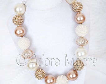 Elegant hues , Kids Fashion Jewelry, Chunky Bead Necklace, M2M Nani Kalani,  M2M Ava