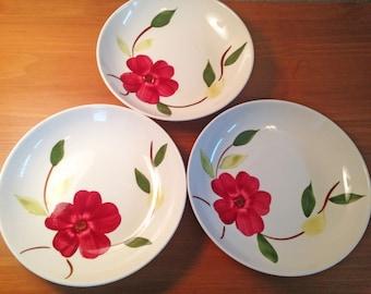 Stetson China Soup Bowls--Set of 3