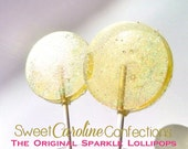 Yellow Lollipops, Wedding Favors, Candy Lollipops, Party Favors, Baby Shower, Yellow Party Favors, Sweet Caroline Confections--Set of Six