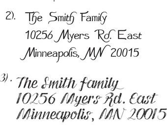 Address Rubber Stamp made to order, for envelopes, return stationary. Hipster fonts for modern address rubber stamps.