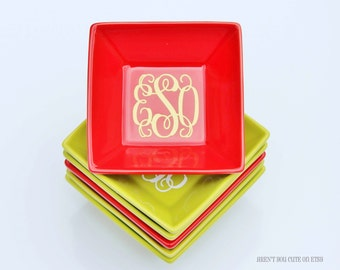 Monogrammed Jewelry Ring Dish ~ Featured in ALL YOU magazine