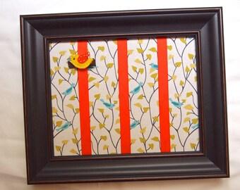 Hair Bow Organizer Frame, Hair Bow Holder, Hair Clip Organizer - Birds on Branches - Bird-Themed Nursery Decor