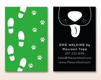 Dog sitter business cards militaryalicious dog sitter business cards colourmoves