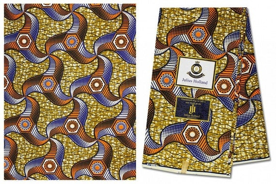 Brown african wax print fabric for sale african by for Patterned material for sale