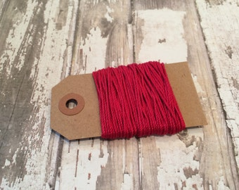 10 Yards of Solid Red Baker's Twine
