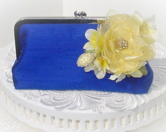 Cobalt Blue Brides Clutch  / Something Blue / Wedding Clutch
