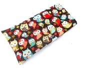Woodland Owls Eye Pillow with Removable Case- With or Without Scent - Relaxing Eye Pillow Owl