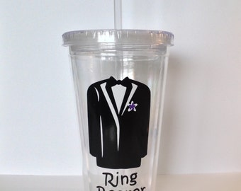 Ring Bearer Personalized Acrylic Wedding Tumbler