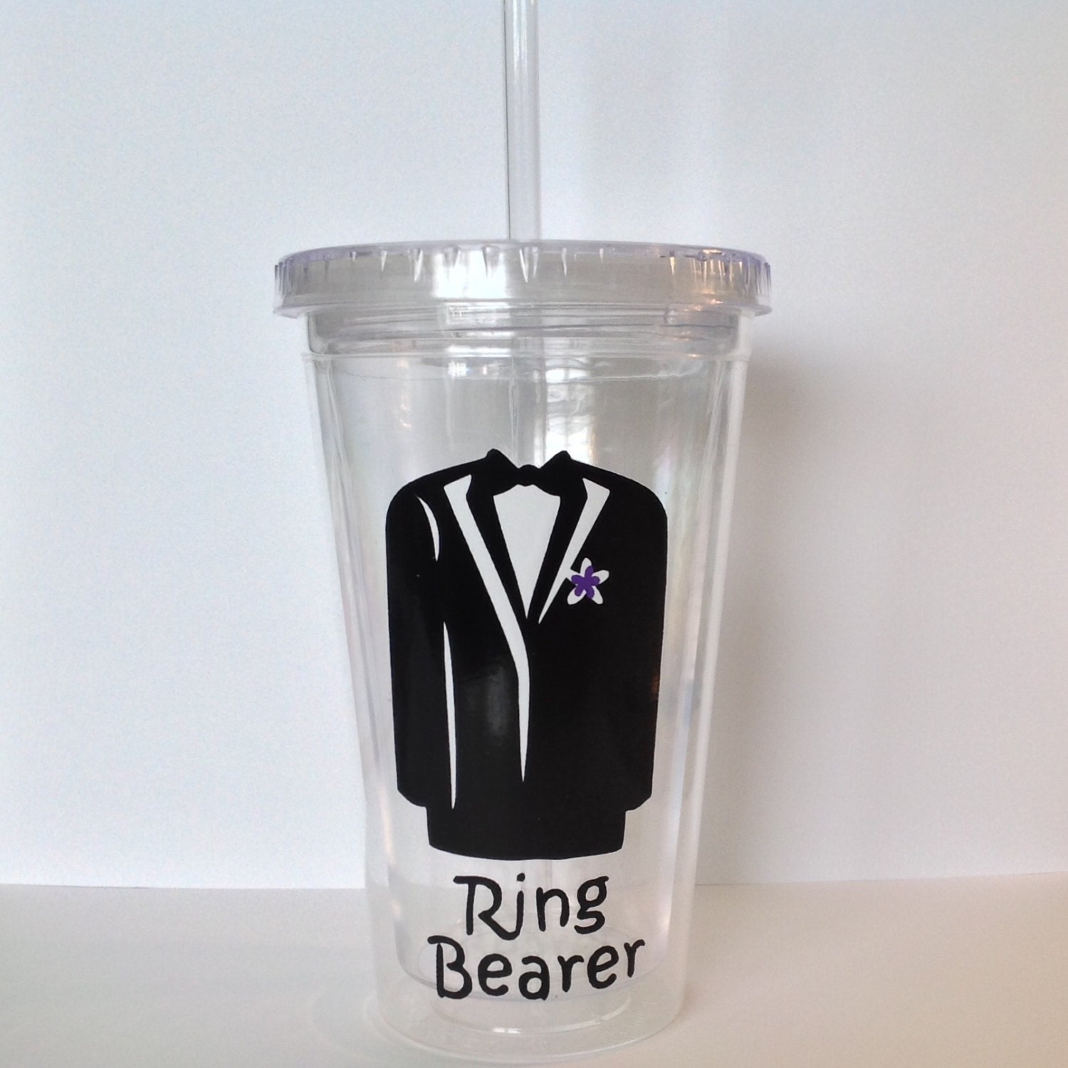 Diy ring bearer vinyl decals make your own wedding tumbler or for Diy ring bearer