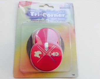 New-for scrapbooking & Paper Crafts Clever Lever Tri-Corner Punch BABY by Marvy Uchida