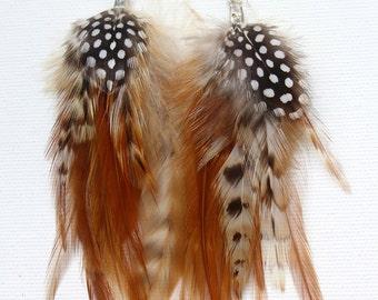 Feather earrings. feathers jewelry. tribal earrings. feather accessories. boho wedding accessories. native american earrings. boho earrings