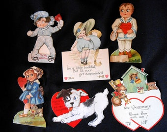 Group of Antique Valentines - Mechanical, Germany,Vintage