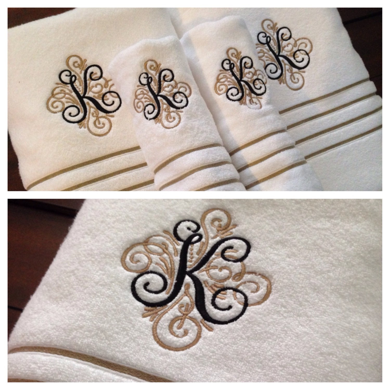 Monogram Towels For Bathroom: Monogrammed Luxury Bath Towels Bath Sheets & Hand By