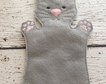 Cat hand puppet, child size