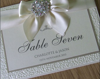 Luxury Crystal Embellishment Table Names or Numbers