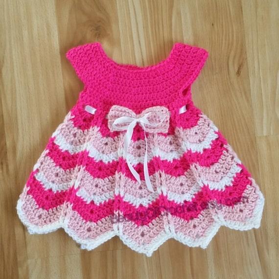 robe de fille en crochet