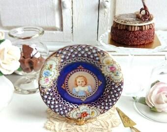 Child's Portrait Dollhouse Miniature Plate