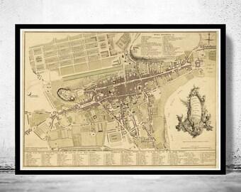 Old Map of Edinburgh, Scotland United Kingdom 1773